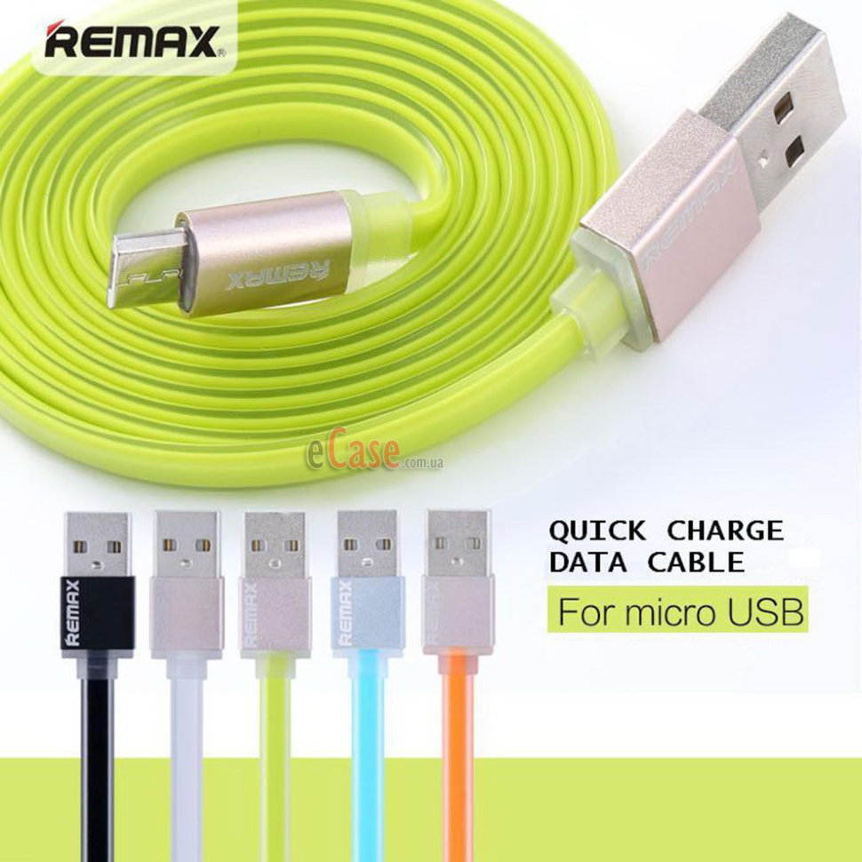 USB кабель REMAX Quick Charge (microUSB) 1m фото 1 — eCase