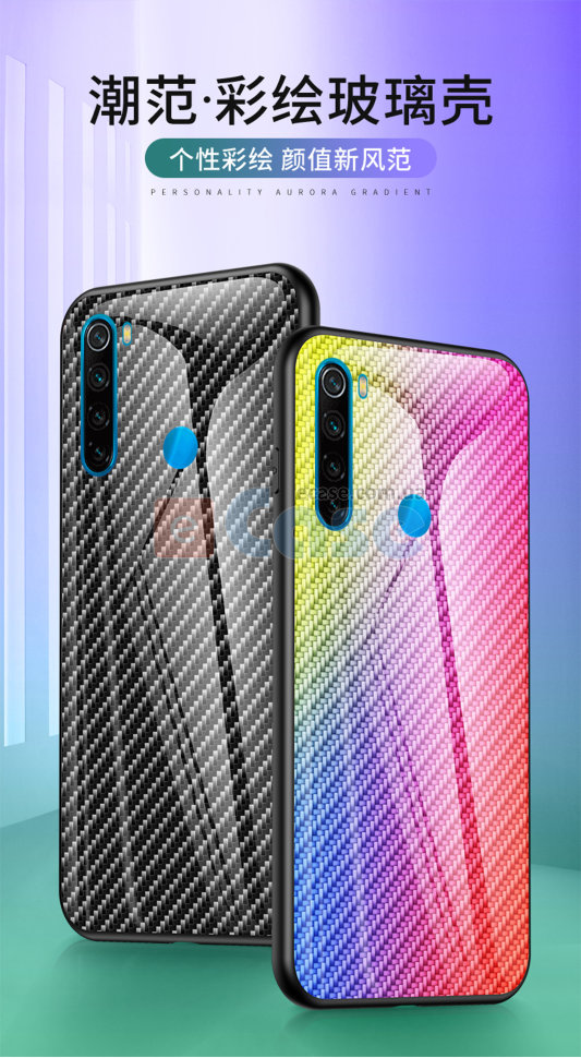 Накладка TPU + Glass Knitting для Xiaomi Redmi Note 8T фото 1 — eCase