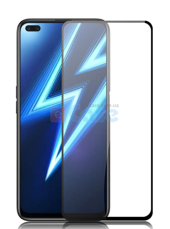 Защитное стекло для Oppo Reno 4 Lite (Tempered Glass Frame 2,5D) с рамкой фото 1 — eCase