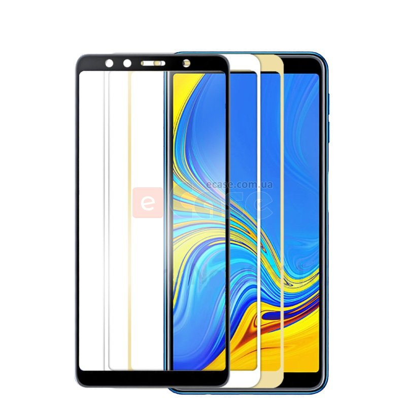 Защитное стекло 3D Full-screen Color Frame для  Samsung A750 Galaxy A7 2018 фото 1 — eCase