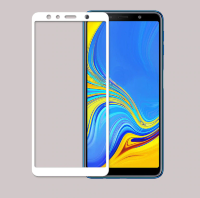Защитное стекло 3D Full-screen Color Frame для  Samsung A750 Galaxy A7 2018 фото 4 — eCase