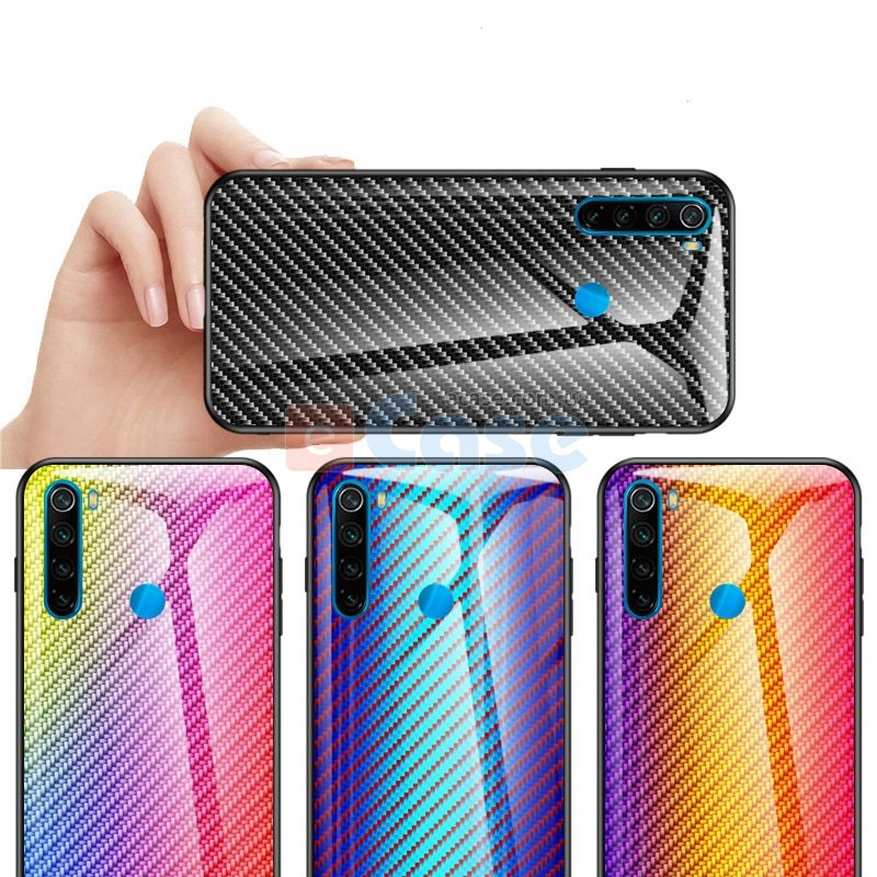 Накладка TPU + Glass Knitting для Xiaomi Redmi Note 8 фото 1 — eCase