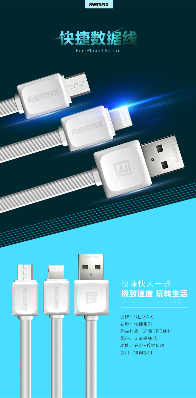 USB кабель REMAX Fast Data (micro USB) фото 1 — eCase